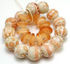 CLO Beads  Adobe Linen and Peachy Keen  Handmade by CareyOHalloran, $65.00