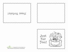 birthday cake coloring page worksheets birthdays and school. Black Bedroom Furniture Sets. Home Design Ideas