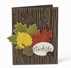 Textures of Fall.  Stampin Up Wonderfall
