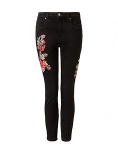SKINNY FIT EMBROIDERED JEAN