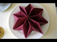 Christmas Table Setting - How to Fold a Rose/ Flower - Napkin Folding, Restaurant Table Setting - YouTube