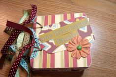 Family Mini Album Chipboard Scrapbook by HampshireRose on Etsy, $25.00