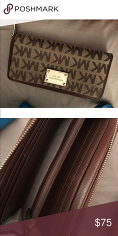 Michael Kors wallet 100% authentic Michael Kors wallet all offers welcome.  This item is being for my sister this item is unavailable for trades. Thank you for your understanding Bags Wallets