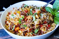 This recipe is a family favorite that is full of flavor. We usually make a double batch just because one typically isn't enough. Pork Recipes, Pasta Recipes, Dinner Recipes, Cooking Recipes, Dinner Ideas, Pork Meals, Pasta Meals, Noodle Recipes, Pizza