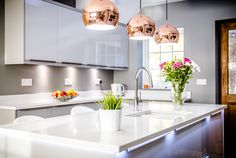 Classic or contemporary, trend-setting or traditional? The right lighting can completely transform your kitchen, but time spent planning lighting zones is crucial - as your kitchen is likely to have several different functions throughout the day. Island Pendant Lights, Pendant Lighting, Kitchen Design, Traditional, Contemporary, Kitchen Lighting, Lighting Ideas, Classic, Table