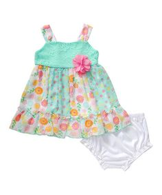 Another great find on #zulily! Mint Lace Dress & Diaper Cover - Infant #zulilyfinds