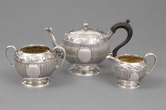 Kleines Teeset, 925er Silber, Charles Stuart Harris/James Dixon & Sons, London/Sheffield, um 1876/18 — Silber