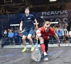 Nick finds himself dealing with an awkward ball out in front of him in this shot.   When you find yourself in this position you want to be able to hit an effective shot.   You can work on developing your ball skill through solo practice drills, a number of which can be found here:   #squash #psa #lunge #squashskills