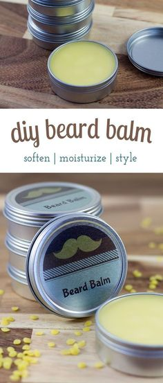 Cedarwood Beard Balm is an easy and thoughtful DIY gift for him that helps keep beards soft and tame during the harsh winter months. It consists of oils and waxes that moisturize skin and hair, and helps to shape beards.