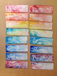 Watercolor Bookmarks, Watercolor Cards, Watercolor Paintings, Watercolour, Creative Bookmarks, Diy Bookmarks, Bookmark Ideas, Crochet Bookmarks, Homemade Bookmarks
