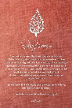 Enlightenment Affirmation