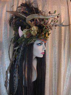 faerie head dress | Forest Faerie Headdress by ~SolsticeArtbyTara on deviantART