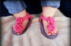 GroopDealz | Super Cute Crochet Sandals for Baby Girls