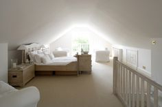 If you are lucky enough to have an attic in your home but haven't used this space for anything more than storage, then it's time to reconsider its use. An attic Attic Master Bedroom, Attic Bedroom Designs, Attic Bedrooms, Bedroom Loft, Attic Bathroom, Loft Conversion Bedroom, Attic Conversion, Loft Conversions, Loft Conversion Low Ceiling