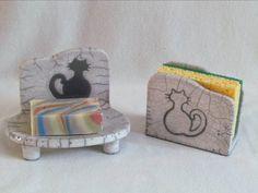 porte éponge savon chat animaux décoratif raku original céramique grès fait main artisanal Jean-Pierre et Danièle Meyer