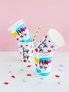 Paper Party Cups on A Subtle Revelry | DESIGN IS YAY!