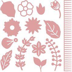 Intricut Foliage Dies 14 Pieces | Hobbycraft