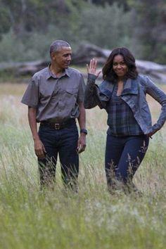 The Obama's at Yosemite National Park