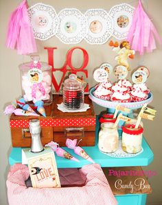 Lovely Valentine's Day party!  See more party ideas at CatchMyParty.com!