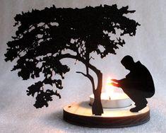 Cold Man Tea Light Candle Holder by Plasticsmith on Etsy, $17.00