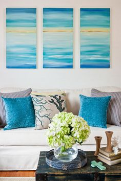 How to make a seascape canvas