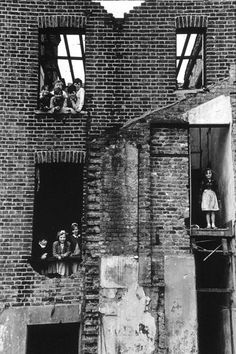 Children in Bombed-Out Building, Bermondsey, 1954, photo by Roger Mayne