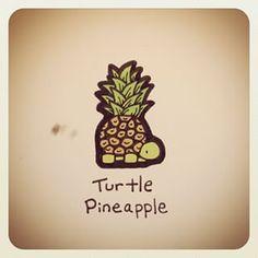 Turtle Pineapple for Maui Animal Drawings, Cute Drawings, Cute Turtles, Baby Turtles, Turtle Love, Pokemon, Illustration, Cute Cartoon, Artsy Fartsy