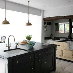 aga rayburn modern kitchens - Google Search