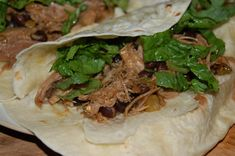 For my second installment of the Pork Roast saga, I give you tacos.  Now yes, you can make tacos out of just about anything, but boy were these yummy.  Pulled pork is not something I usually have l…