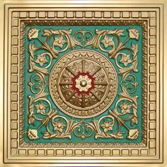 215 Coffered Ceiling Tile is made out of PVC and can be dropped into any standard grid system. It comes in antique copper, antique silver, antique gold and other finishes.
