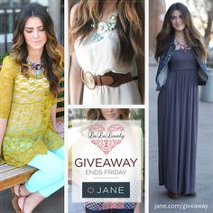 I just entered this giveaway from Jane.com and La La Lovely to enter a great gift card!
