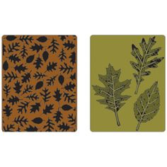 Sizzix Texture Fades Embossing Folders Leaves