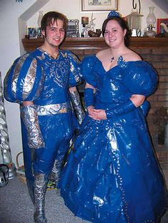Duct Tape Prom (via Ugly Prom Dresses - WPMT)   What where they thinking about when they made up the idea???