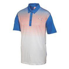 Puma GT Glitch Mens Golf Polo Strong Blue