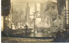 Making an Earthquake Scene in the Theatre Design, Stage Design, Character Ideas, Magazine Art, Victorian Era, Cage, 19th Century, Theater, Photographs