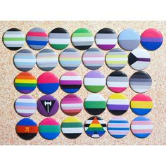 PRIDE FLAG PINS -Mix Match- Non-Binary, Pansexual, Polyamorous,... ($2) ❤ liked on Polyvore featuring jewelry, brooches, button jewelry, button brooch, pin brooch and pin jewelry