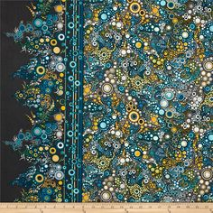"Kaufman Effervescence Single Border Reviera from @fabricdotcom  Designed by Amelia Caruso for Robert Kaufman Fabrics, this cotton print is perfect for quilting and craft projects, as well as apparel and home décor accents. Features an 8.5"" single border stripe parallel to the selvage. Colors include blue, yellow, white and grey."