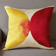 Silk pillow for our leather sofa.