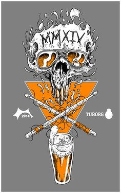 Roskilde 2014 by Olav Åsheim, via Behance