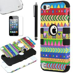 Pandamimi ULAK(TM) Hybrid Hard Pattern with Silicon Case Cover for Apple iPod Touch 5 Generation with Screen Protector and Stylus (Black / Freehand Sketching Tribal) ULAK,http://www.amazon.com/dp/B00GYOY3HM/ref=cm_sw_r_pi_dp_New.sb14SY7EYNQK