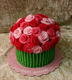 bouquet cake roses