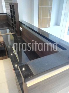 Receptionist desk for Lobby Guest House, design and build by Grasitama Interior. Follow our IG @grasitama.interior to check Our update. Thanks