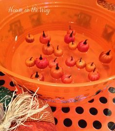 Every year, I create a Fall festival game that is a great DIY version of classic carnival games. For our Fall festival this year, I create Pick Up Pumpkins.