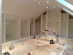 Fitting wardrobes in loft conversion