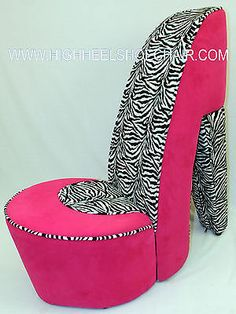 Shoe Chair   I Have This Just A Little Different   Zebra Print, I Need This  For My Guest