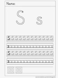 Lernstübchen: Schreibblätter zum S - s