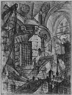The Round Tower: Plate 3 of Carceri, ca. 1749–60  Giovanni Battista Piranesi (Italian, 1720–1778)  Italian  Etching, engraving, sulphur tint or open bite, burnishing