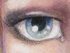 My 'realistic eye' study/ Jane Davenports Joynal class.By Kerry Sinigaglia