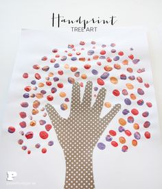 Handprint tree art