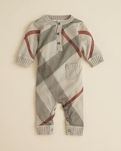 Burberry Infant Boys' Knit Coverall - Sizes 3-18 Months | Bloomingdale's